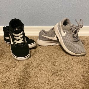 Nike and vans 12C shoes